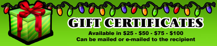 Magic Christmas Gift Certificates for 2012