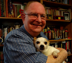 Lou Dean with George the Chihuahua