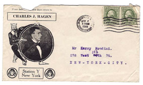 Houdini envelope from Charles Hagan