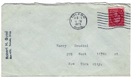 Houdini Envelope from Robert Gysel