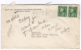 Houdini envelope with his handwritten note