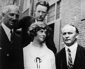 Houdini with Mina Crandon, Walter Franklin Prince