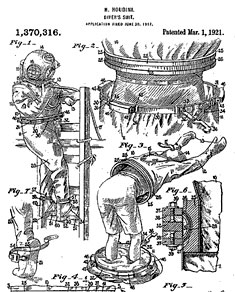 Houdini patent for a diver suit