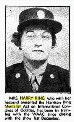 Mrs. Harry King in the WAAC