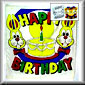 Happy Birthday Silk Coloring Set