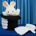 Deluxe Rabbit in Hat Puppet