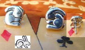 Sterling Bunny Post Earrings