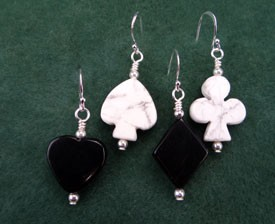 Card Pips Earrings Set