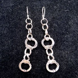 Handcuffs Earrings- Long Style