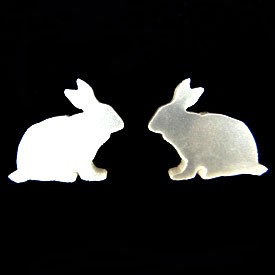 Pearly Bunny Earrings