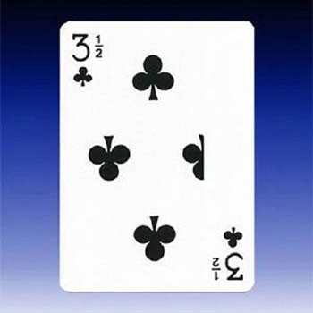 3 1/2 of Clubs Card