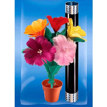 Appearing 5-Bloom Flower Bouquet from Wand