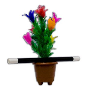 Appearing Flower in Pot with Wand