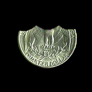Bite Out Quarter Coin