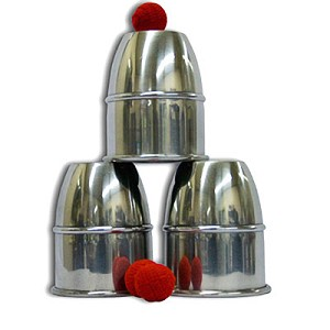 Cups and Balls Set - Jumbo Aluminum