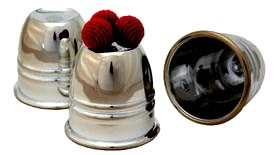 Cups and Balls Set - Deluxe Chromed Plastic