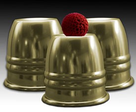 STUNNER Cups and Balls Set- Brass