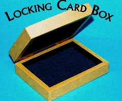 Card Box- Wood Locking