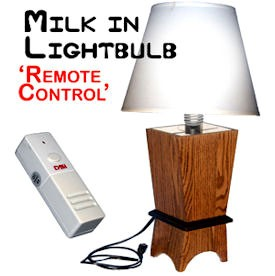 Milk in Lightbulb Remote Control Lamp