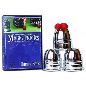 PACKAGE DEAL - Cups and Balls Set (Aluminum) plus Amazing Easy Cups and Balls DVD