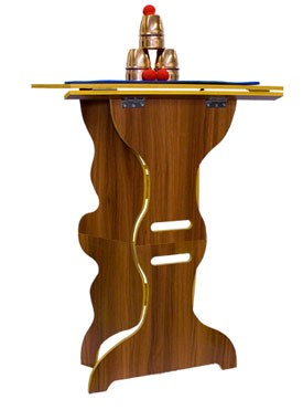 Table- Folding Wood Hourglass