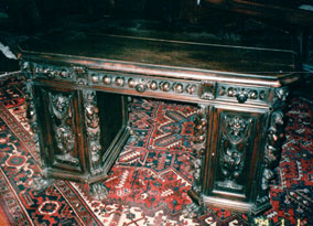 front view of Harry Houdini's desk