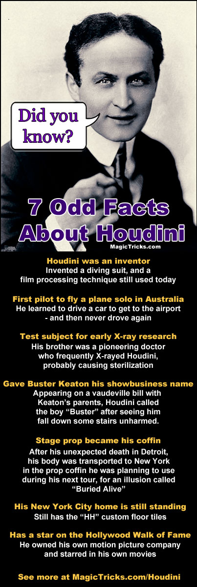 Seven Odd Facts About Harry Houdini | MagicTricks com