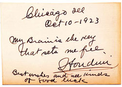 Houdini handwritten quote