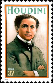 houdini postage stamp