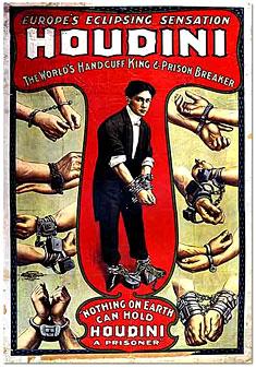 houdini handcuffs poster