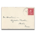 Houdini Envelope - Majestic Theatre Boston