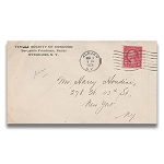 SOLD Houdini Envelope - Temple Society Of Concord