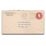 SOLD Houdini Envelope - Walter L. Collins