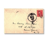 Houdini Envelope -  A.B. Harrington, Magician