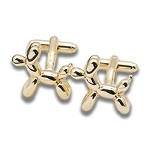 Balloon Animal Cuff Links - GOLD
