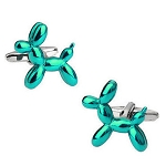Balloon Animal Cuff Links - TEAL BLUE