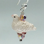 Crystal Dove Earrings
