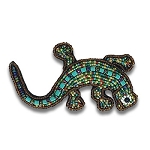 Beaded Lizard Pin