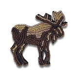 Beaded Moose Pin