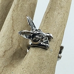 Bunny Hug Ring - Silver Color