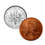 Dime and Penny Coin Trick