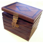 86 DISCONTINUED Inlaid Locked Box