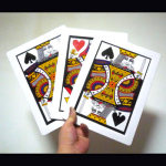86 DISCONTINUED Three Card Monte- Jumbo