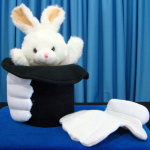 DISCONTINUED Deluxe Rabbit in Hat Puppet