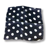 DISCONTINUED Silk- Black With White Dots 12-Inch