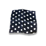 DISCONTINUED Silk- Black With White Dots 9-Inch