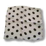 DISCONTINUED Silk- White With Black Dots 12-Inch