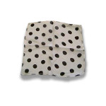 DISCONTINUED Silk- White With Black Dots 9-Inch