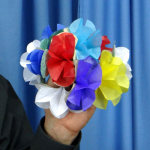 DISCONTINUED Spring Flowers- Paper Small Bouquet