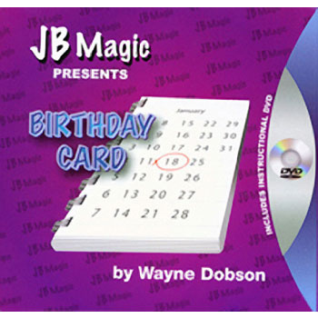 Birthday Card Trick Fast Shipping Magictricks